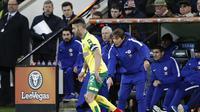Manajer Chelsea, Antonio Conte, mengakui anak asuhnya memiliki permainan yang buruk sehingga kewalahan meladeni permainan Norwich City di Piala FA.(AFP/Adrian Dennis)