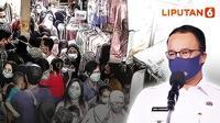 Banner Infografis Geger Kerumunan Pasar Tanah Abang. (Liputan6.com/Abdillah)