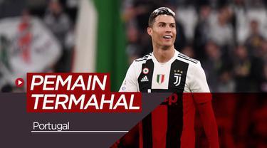 Berita video 10 pemain termahal dari Portugal, salah satunya bintang Juventus, Cristiano Ronaldo.
