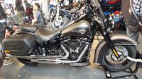 Salah satu motor Harley Davidson terbaru yang dipamerkan di HUT ke-1 anak Elang di Kelapa Gading