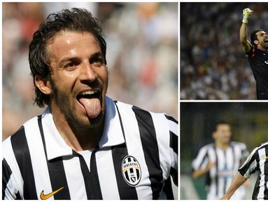 Juventus tercatat sebagai salah stu klub tersukses di Eropa yang sudah meraih 51 trofi domestik maupun internasional. Keberhasilan Si Nyonya Tua tidak lepas dari peran 10 pemain yang layak disebut legenda dalam kejayaan 20 tahun terakhir. (Kolase Foto dari AFP)