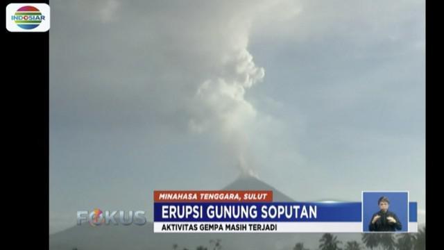 Hingga saat ini, Gunung Soputan masih berstatus siaga level tiga. Karena itu, warga diimbau agar tidak melewati batas radius aman, yakni 4 kilometer dari kawah gunung.