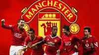 Manchester United - Cristiano Ronaldo, Angel di Maria, Memphis Depay, Gerard Pique, Ruud van Nistelrooy (Bola.com/Adreanus Titus)