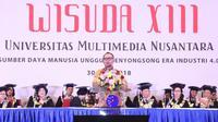 Menteri Ketenagakerjaan (Menaker), M. Hanif Dhakiri menjadi keynote speaker pada Sidang Senat Terbuka Wisuda XIII Universitas Multimedia Nusantara (UMN).