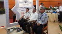 Menteri Perhubungan Budi Karya Sumadi mengadakan video conference memantau posko angkutan Lebaran di daerah, pada Senin (3/6/2019).