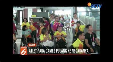 Sebanyak 1.600 atlet Asian Para Games kembali ke negara asal.