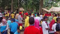 Pasar Pancingan kedatangan 1500 Rombongan Karyawan dari Satuan Perangkat Kerja Daerah (SKPD) Pemerintah Kabupaten Lombok Tengah.