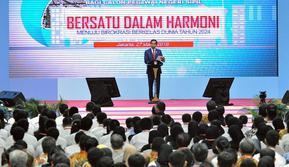 Presiden Jokowi memberi kuliah umum kepada ribuan CPNS periode 2017 (Dok Foto: Setkab.go.id)