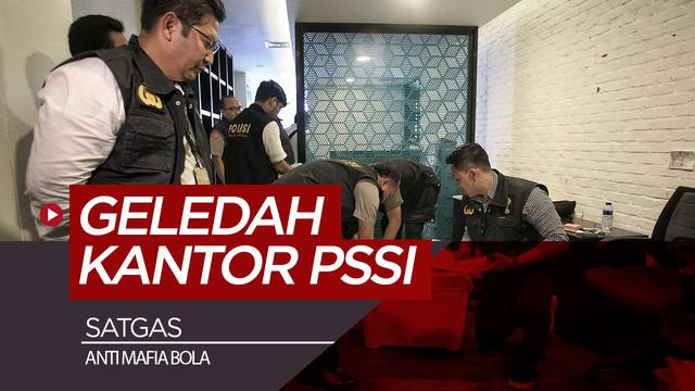Berita video tim penyidik Satgas Anti Mafia Bola Polri mengeledah kantor baru PSSI di Fx Tower, Jakarta, Rabu (30/1).