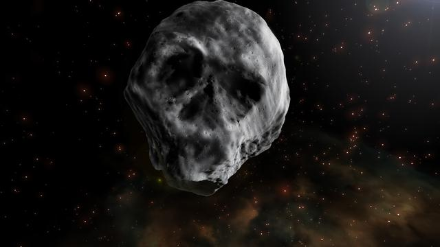 Asteroid 2015 TB145 yang berbentuk tengkorak akan kembali terbang dekat Bumi pada November 2018 (Credit: J. A. Peñas/SINC)(