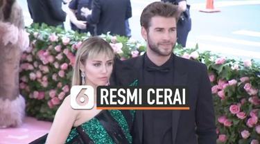 Miley Cyrus dan Liam Hemsworth resmi bercerai pada 28 Januari 2020. Pengadilan Los Angeles telah menyetujui permohonan perceraian mereka. Miley dan Liam diketahui sudah berpisah sejak Agustus 2019.