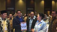 Petinggi Badan Pemenangan Nasional (BPN) Prabowo-Sandi melakukan konsolidasi nasional di Hotel Sultan, Jakarta, Jumat malam (15/3/2019). Rapat konsolidasi tertutup tersebut dimulai sejak pukul 19.30 WIB.