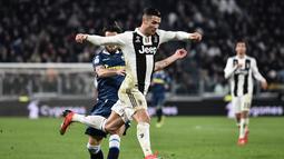 2. Cristiano Ronaldo (Juventus) - 9 gol dan 5 assist (AFP/Marco Bertorello)