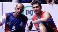 Yosvani Gonazales Nicolas dan Riedel Toiran, pemain asing Surabaya Bhayangkara Samator. (Bola.com/Aditya Wany)