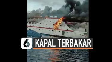 Musibah terjadi pada Kapal penumpang di perairan Maluku Utara Sabtu (29/5) pagi. Kapal terbakar dan membuat panik 181 penumpang.