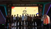 Peluncuran platform live streaming khusus gamers Cube TV di Jakarta, Senin (21/5/2018) dihadiri oleh Dirjen Aplikasi dan Informatika Semuel Abrijani Pangerapan (tengah).