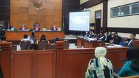 Suasana sidang surat jalan Djoko Tjandra di PN Jakarta Timur, Jumat (6/11/2020). (Merdeka/Bachtiarudin Alam)
