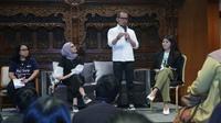 Menteri Ketenagakerjaan M. Hanif Dhakiri memberikan apresiasi atas langkah generasi milenial menggelar Ideafest 2019, sebagai wadah berkumpulnya generasi muda Indonesia yang inovatif dan kreatif.