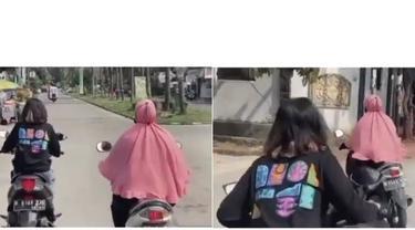 viral emak-emak potong jalan di persimpangan