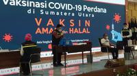 Gubernur Sumut, Edy Rahmayadi, menjadi orang pertama di Sumut yang disuntik vaksin Covid-19, Kamis (14/1/2021)