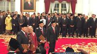 Pimpinan KPK periode 2019-2023 jelang pelantikan di Istana Negara, Jumat (20/12/2019). (Liputan6.com/ Lizsa Egeham)