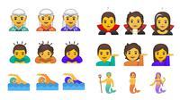 Google rilis 53 emoji gender 'ambigu', tidak representasikan pria atau wanita. Sumber: Gizmodo