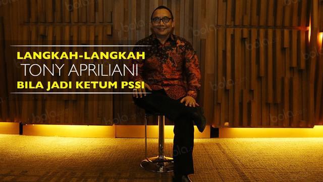 Video wawancara dengan salah satu calon ketua umum PSSI periode 2016-2020, Tony Apriliani.