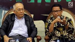 """Diskusi mengangkat tema """"Regulasi, Pengawasan dan Penanganan Bencana Lombok"""" Duka Indonesia ?"""".(Liputan6.com/JohanTallo)"""
