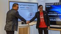 Samsung bekerja sama dengan Vidio untuk menyiarkan Liga Champions 2019-2020. (Bola.com/Muhammad Adiyaksa)
