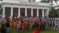 Presiden Joko Widodo memimpin upacara peringatan Hari Kelahiran Pancasila, Sabtu 1 Juni 2019. (Lizsa Egeham)