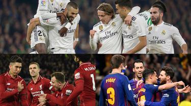Kesuksesan klub eropa musim ini meraih pendapatan sangat ditentukan oleh kompetisi apa yang tengah dijalani. Mayoritas klub eropa meraih pemasukan lewat Liga Champions, dan tahun ini Real Madrid tampil sebagai teratas. (Kolase Foto AFP)