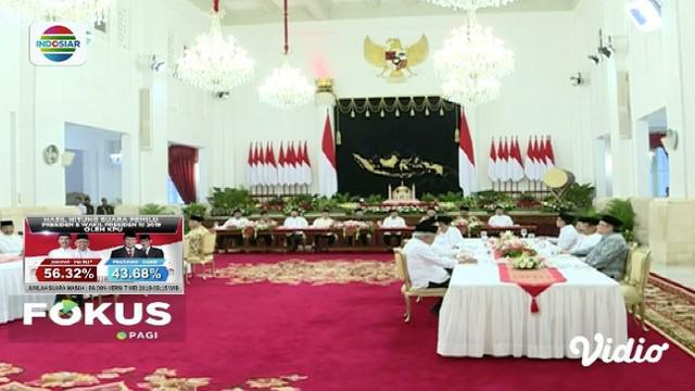 Presiden Jokowi buka buasa bersama pimpinan lembaga tinggi negara sambil konsultasikan rencana pemindahan Ibu Kota.