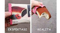 5 Potret Ekspektasi Vs Realita Roti Meses Sedikit Ini Bikin Geregetan (sumber: Instagram.com/ngakakkocak)