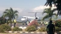 Pesawat Emir Qatar (Liputan6.com / Ola Keda)