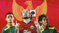 Timnas Indonesia - Rachmat Irianto, Marc Klok, Ady Setiawan (Bola.com/Adreanus Titus)