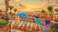Potret Lukisan Disney. (Sumber: Instagram.com/thomaskinkade)