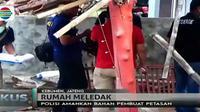 Petugas juga mengamankan bubuk bahan pembuat petasan yang sengaja dititipkan oleh pemiliknya ke salah satu rumah warga.