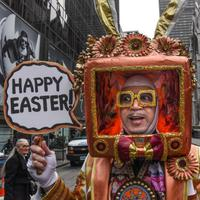 Parade Paskah di New York, Amerika Serikat. (AFP/STEPHANIE KEITH)