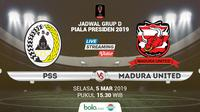 Jadwal Grup D Piala Presiden 2019, PSS Sleman vs Madura United. (Bola.com/Dody Iryawan)