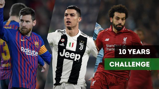 10 years challenge Lionel Messi, Cristiano Ronaldo dan pesepakbola top dunia. (Bola.com/Dody Iryawan)