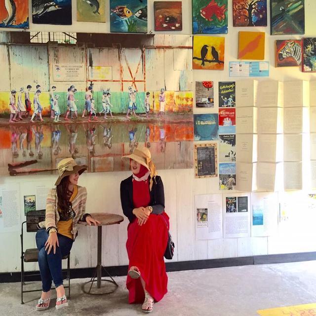 Museum Kata Andrea Hirata, Belitung Timur. (dok. Instagram @dine.pearl/https://www.instagram.com/p/7MoGGOkq7c/Asnida Riani)