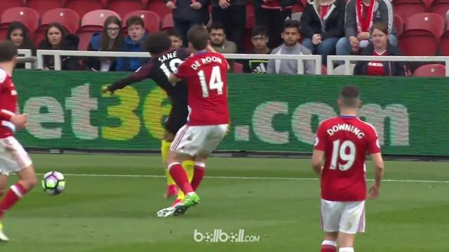 Berita video diving Leroy Sane membuat wasit beri penalti pada Man.City dan antar Middlesbrough degradasi. This video presented by Ballball.