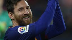Lionel Messi mendulang 37 gol di La Liga Spanyol, dan total mencetak 54 gol dan 19 assist di berbagai ajang pada musim 2016-2017. (AP/Manu Fernandez)
