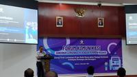 Gubernur Lembaga Ketahanan Nasional (Lemhanas) Letjen TNI Agus Widjojo di Jakarta. (Liputan6.com/Ika Defianti)