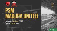 Piala Indonesia - PSM Makassar Vs Madura United (Bola.com/Adreanus Titus)