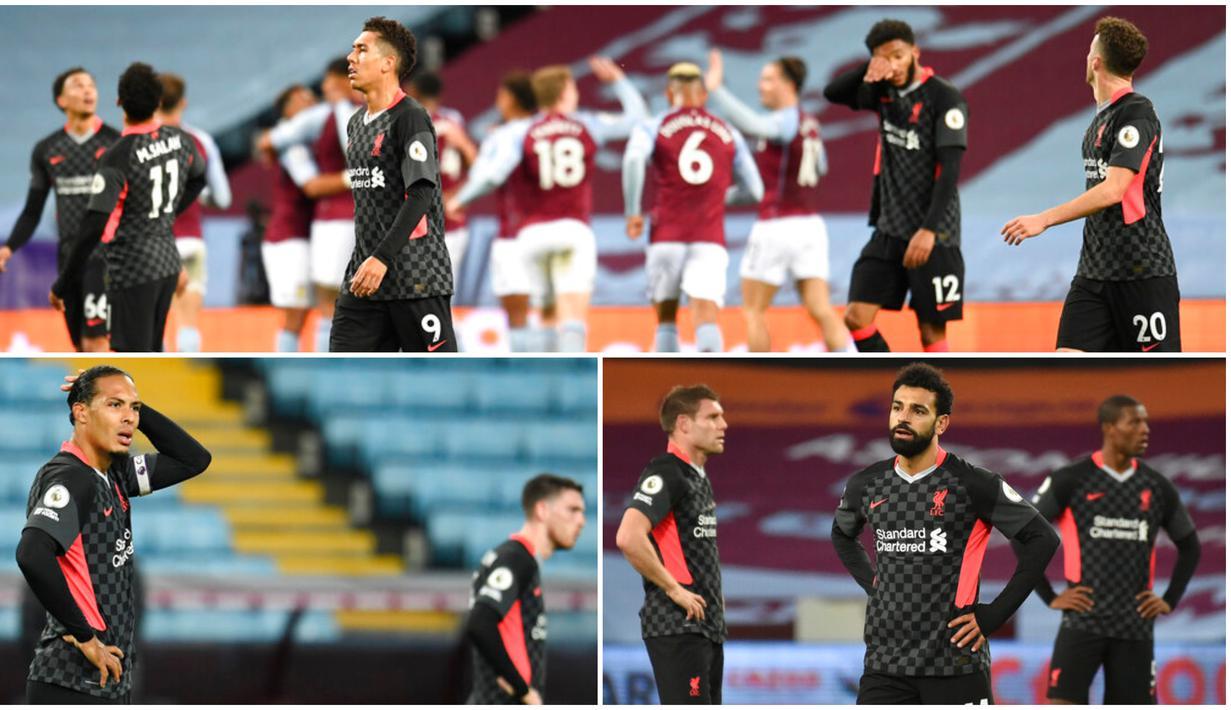 Pemain Liverpool tak mampu menutupi kekecewaan usai dibuat hancur lebur oleh Aston Villa pada laga Liga Inggris. Berikut ragam tampang penggawa The Reds saat dipermalukan Aston Villa hingga kebobolan tujuh gol.