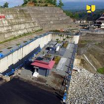 Kementerian PUPR melakukan proses pengisian air atau impounding di Bendungan Logung, Kabupaten Kudus, Jawa Tengah, pada Selasa, 18 Desember 2018. (Dok Kementerian PUPR)