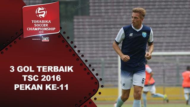 Video 3 gol terbaik Torabika Soccer Championship 2016 pada pekan ke-11.