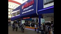 Dalam gelaran Jakarta Fair Kemayoran Yamaha mengusung tema Experience the Blue.