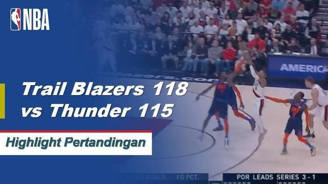 Damian Lillard merobohkan pemenang pertandingan dan mencetak 50 poin untuk memimpin Portland dalam kemenangan Game 5 atas Oklahoma City.